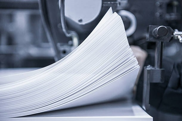 how thick is printer paper