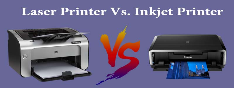 Absolute comparison of Laser Printer and Inkjet Printer