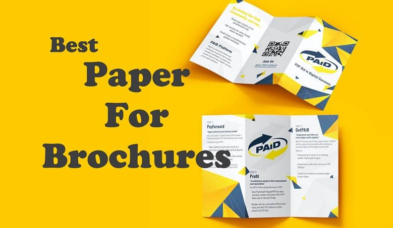 type of paper used for printing flyers