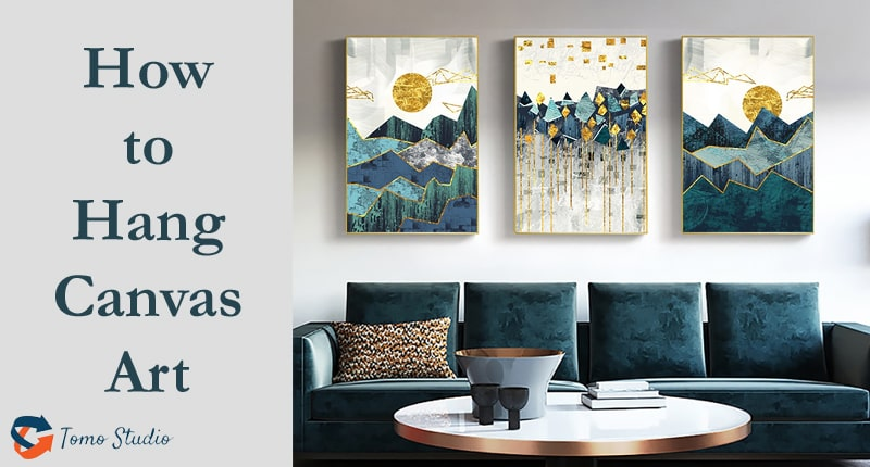 how to hang flat canvas