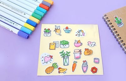 how to print stickers at home