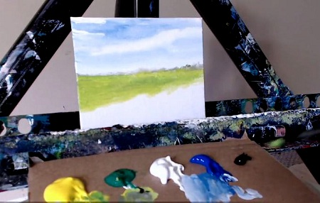 step by step canvas painting