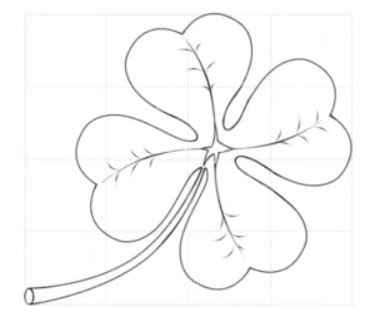 how to draw a leaf