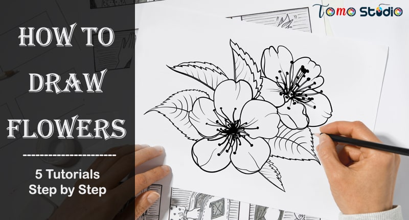 how to draw flowers easy