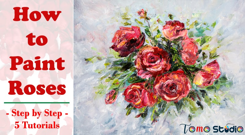 how to paint roses acrylic