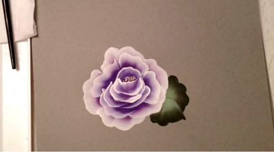 how to paint roses