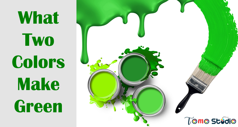 what primary colors make green