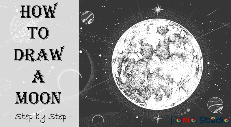 how to draw full moon